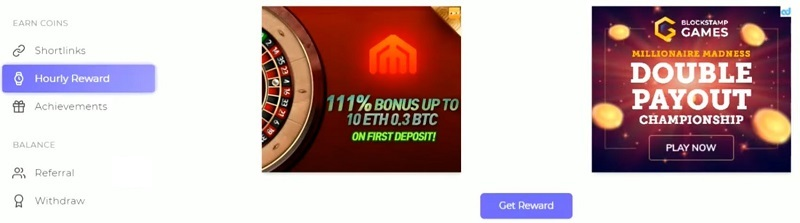 FaucetCrypto Hourly Rewards
