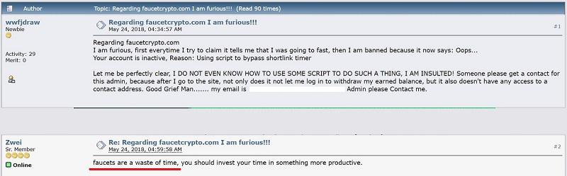 FaucetCrypto Reviews