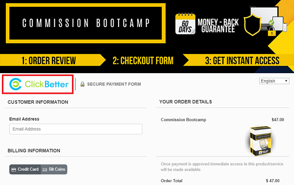My Commission Bootcamp Via ClickBetter