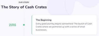 CashCrates co Beginnings