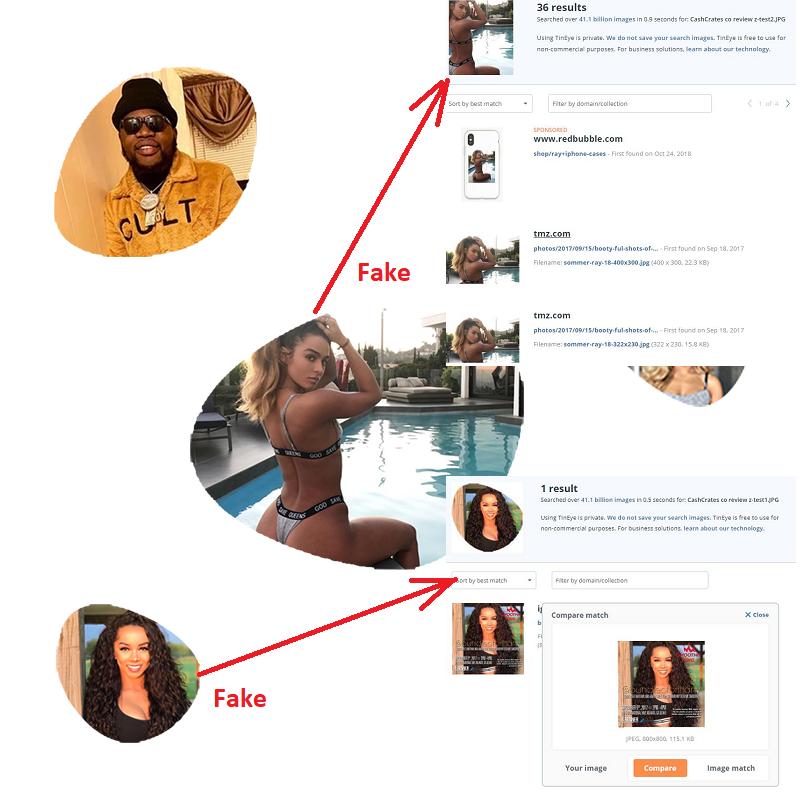 CashCrates.co Fake Influencers