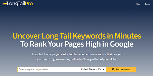 Long Tail Pro affiliate marketing tools and resources