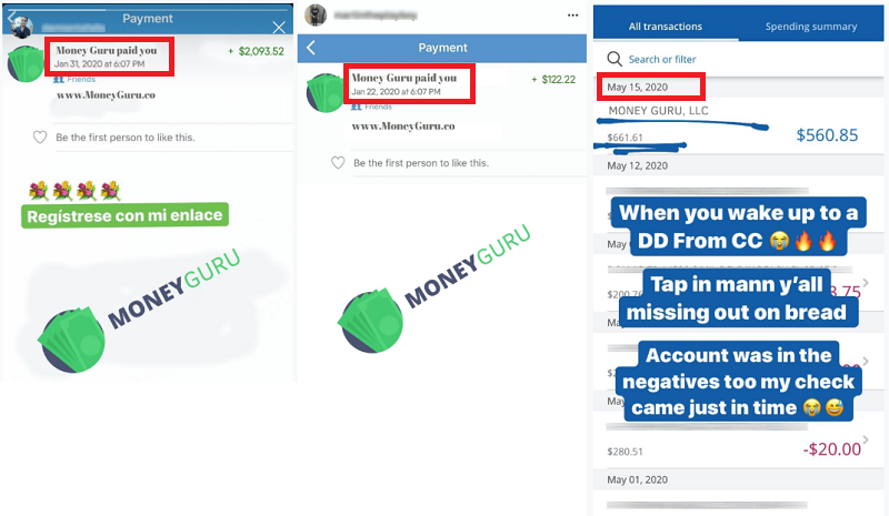 MoneyGuru.co Fake payment Proofs