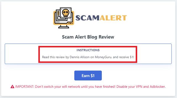 MoneyGuru.co Reviews on Scam Alert