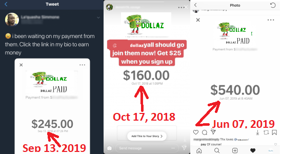 Dollaz.Club Fake Payment Proofs