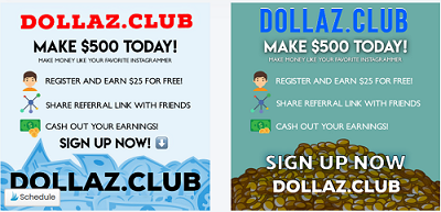 Dollaz.Club Promo Post Banners