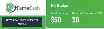 FameCash 50 Dollar Bonus