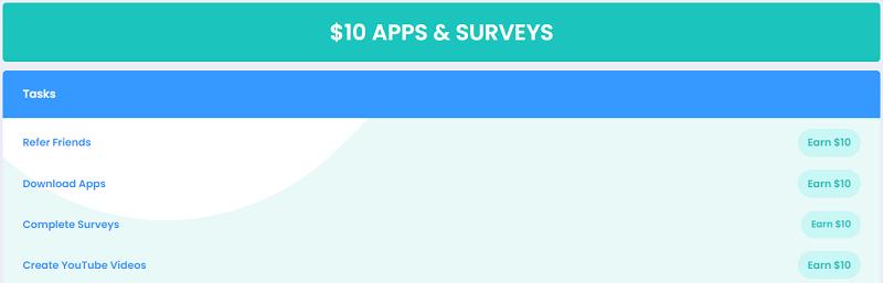 Cashwall $10 Apps