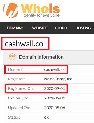 CashWall Registration Date