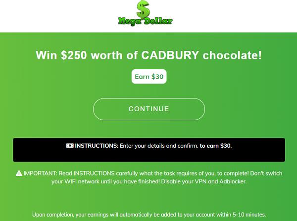 MegaDollar co Review Cadbury Offer