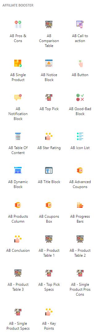 Premium Affiliate Booster Theme Blocks