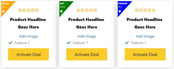 Premium Affiliate booster Theme Product Columns